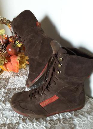 Ботинки из натуральной замши