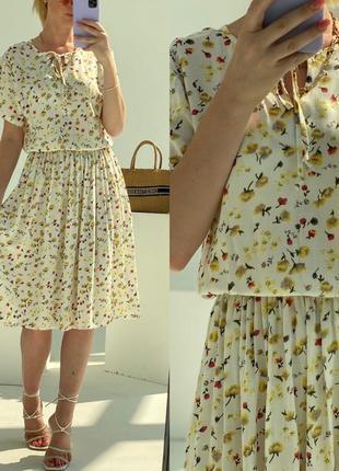 Платье летнее женское длинное миди легкое цветочное батал