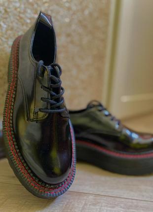 Матовый лак туфли