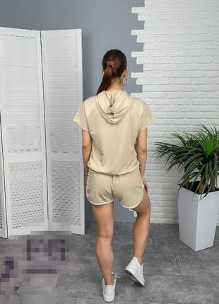 Спортивный костюм худи и шорты4 фото