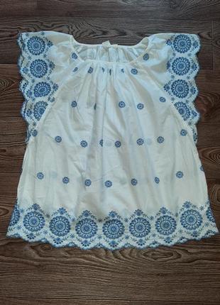 Блуза хлопковая прошва вышивка