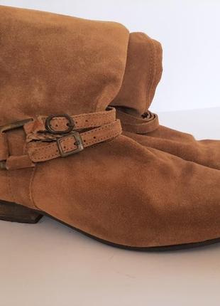 H&m frye сапоги коричневые замшевые,кожа в новом состоянии ботфорты airstep ( 25 см/24,5см)