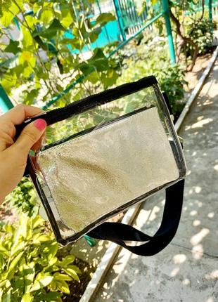 Силиконовая сумочка / сумка силиконовая прозрачная на пояс или плечо