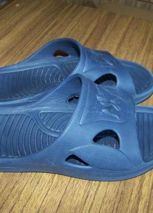 Тапочки резиновые синие детские со спайдерменом 31р 20.8 см стелька