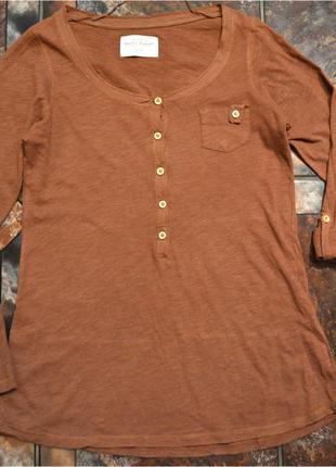 Базовый коричневый лонгслив t-shirt zara