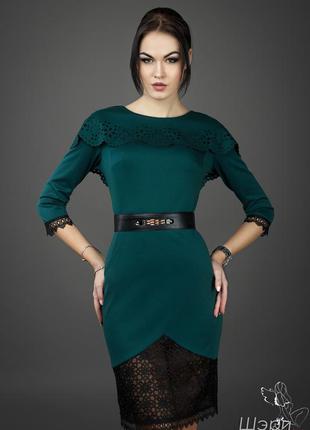 Приталенное весенние-осенние платье