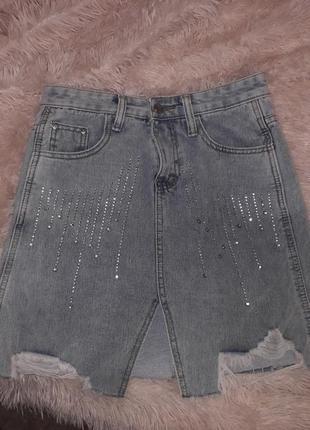 Джинсовая юбка на размер s