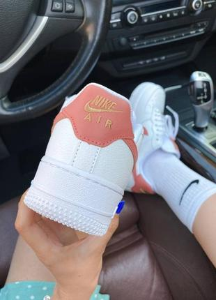 Шикарные женские кроссовки nike air force 1 mini swoosh наложка8 фото