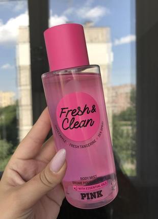 Fresh & clean victoria's secret pink спрей для тела