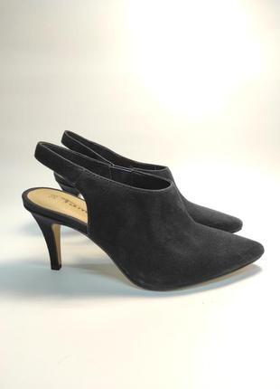 Туфли замшевые tamaris на каблуке босоножки женские бренд
