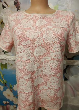 Блуза,гипюровая,100% хлопок м