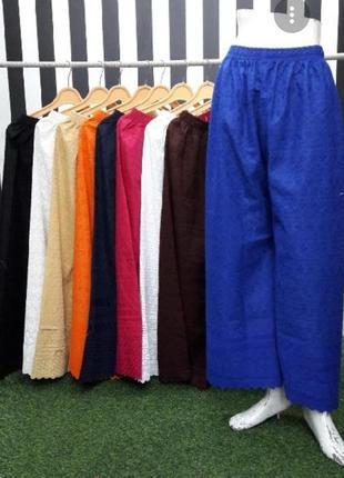 Лляні трендові  італійські штани палаццо