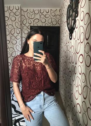 Блузка блуза футболка кофточка кофта цвет марсала актуальная