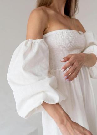 Платье из натурального льна