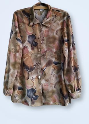 Винтажная рубашка с абстрактным принтом