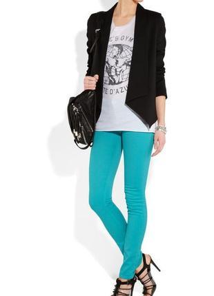 Denim co  распродажа . яркие бирюзовые джинсы скинни  м. 10 (38)