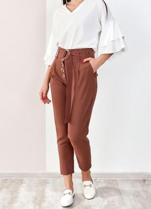 Лёгкие брючки женские брюки штаны офисные стильные модные