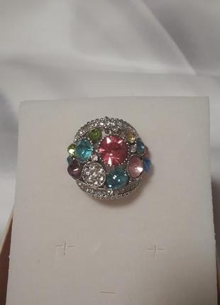 Кольцо перстень россыпь камней