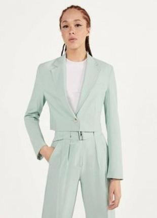 Базовый укороченный пиджак bershka7 фото