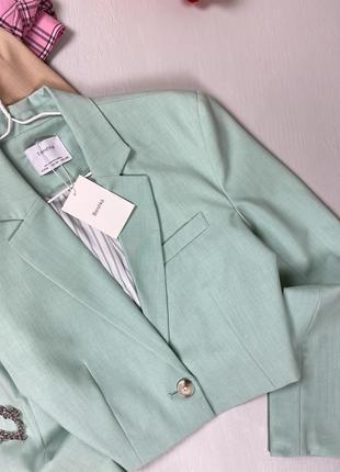 Базовый укороченный пиджак bershka10 фото