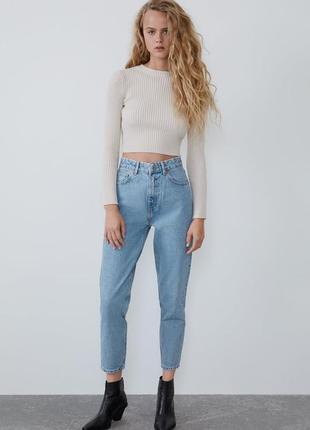 Новые мом джинсы zara