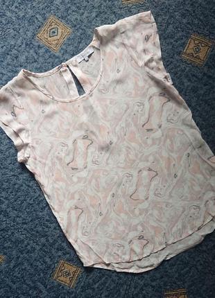 Нежная блуза second female (дания) премиум/летняя футболка #40%шелк, вискоза#