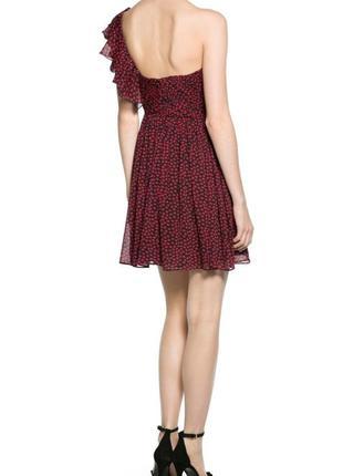 Платье шифоновое на одно плечо ,бюстье mango xs4 фото