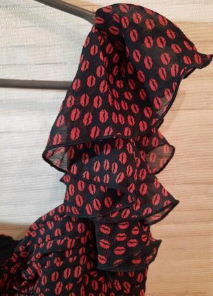 Платье шифоновое на одно плечо ,бюстье mango xs5 фото
