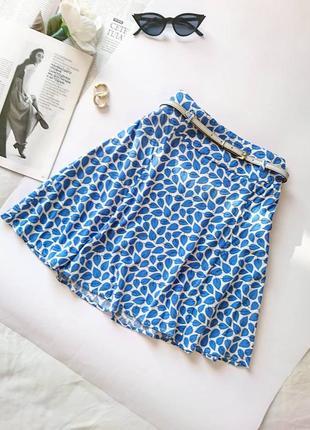 Ніжна, легенька віскозна міні-спідниця/мини юбка 🌸 на талію next, на р. xs 💔