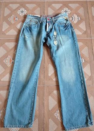 Винтаж джинсы бойфренд 32/32  бохо хиппи