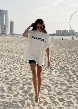 Крутая оверсайз футболка в стиле jil sander