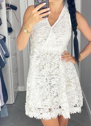 Сарафан кружево белый гипюр платье сукня