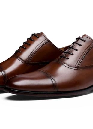 Коричневі туфлі оксфорди desai кожаные туфли 42 р