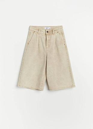 Джинсовые шорты бермуды