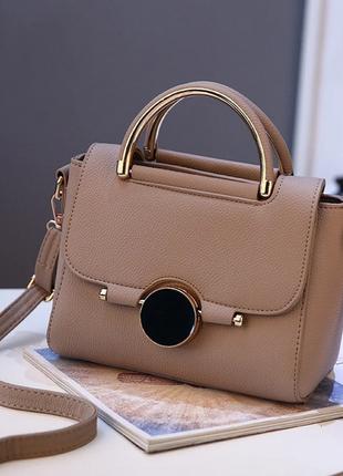 Сумка. женская бежевая сумочка, стильная сумка из эко-кожи, мини-сумка