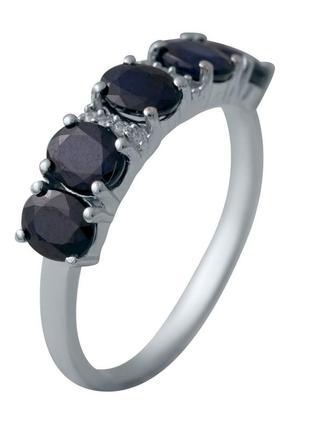 Серебряное кольцо сапфир