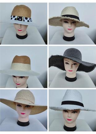 Соломеннае шляпка, плетеная шляпа от солнца панама primark one size
