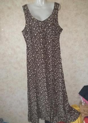 Платье цветочный принт винтаж2 фото