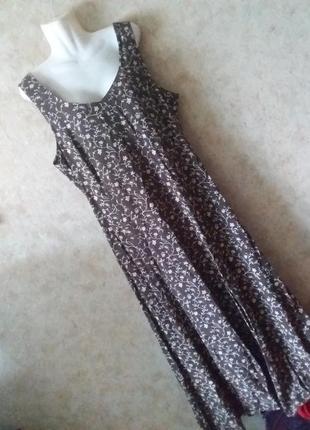 Платье цветочный принт винтаж1 фото