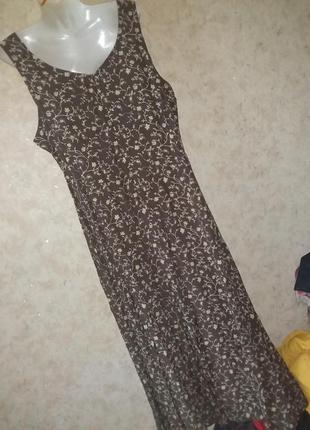 Платье цветочный принт винтаж5 фото