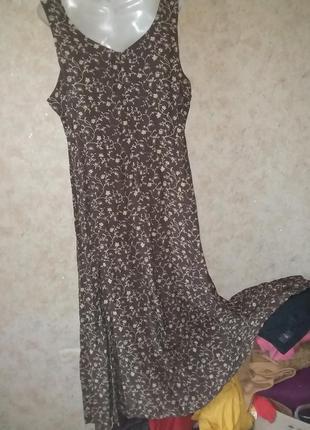 Платье цветочный принт винтаж6 фото