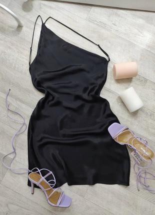 Платье на одно плечо zara