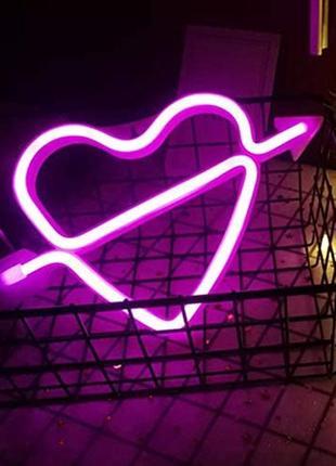Неоновый светильник сердце neon led heart