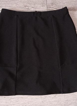 Стильна чорна спідниця 40 грн. розпродаж1 фото