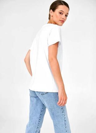 👑 белая футболка с принтом8 фото