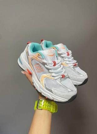 ❤ женские текстильные кроссовки new balance 530 orange / mint  ❤