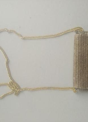 Соломенная сумка кошелек на цепочке