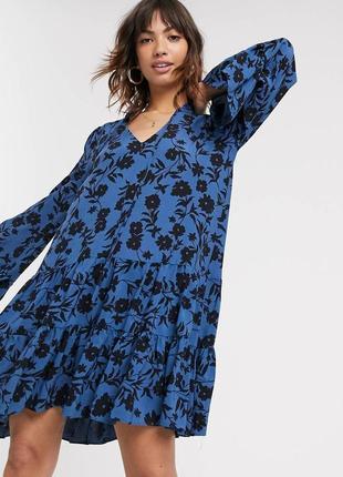 Свободное платье цветочное вискоза ? неймовірна сукня жіночна