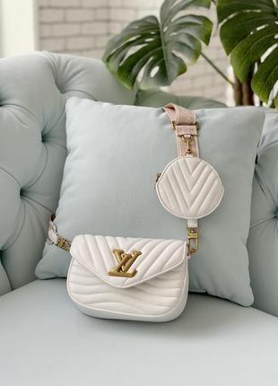 Маленькая белая сумка клатч с кошельком длинная ручка7 фото