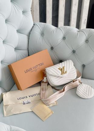 Маленькая белая сумка клатч с кошельком длинная ручка4 фото